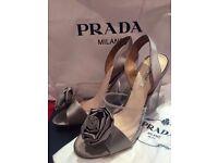Prada designer wedge heels - wedding or party shoes