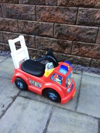Little people fire engine ride on