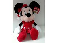 LARGE BRAND NEW CHRISTMAS MINNIE MOUSE SOFT TOY DOLL FOR SALE