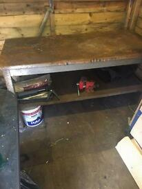 Steel work bench