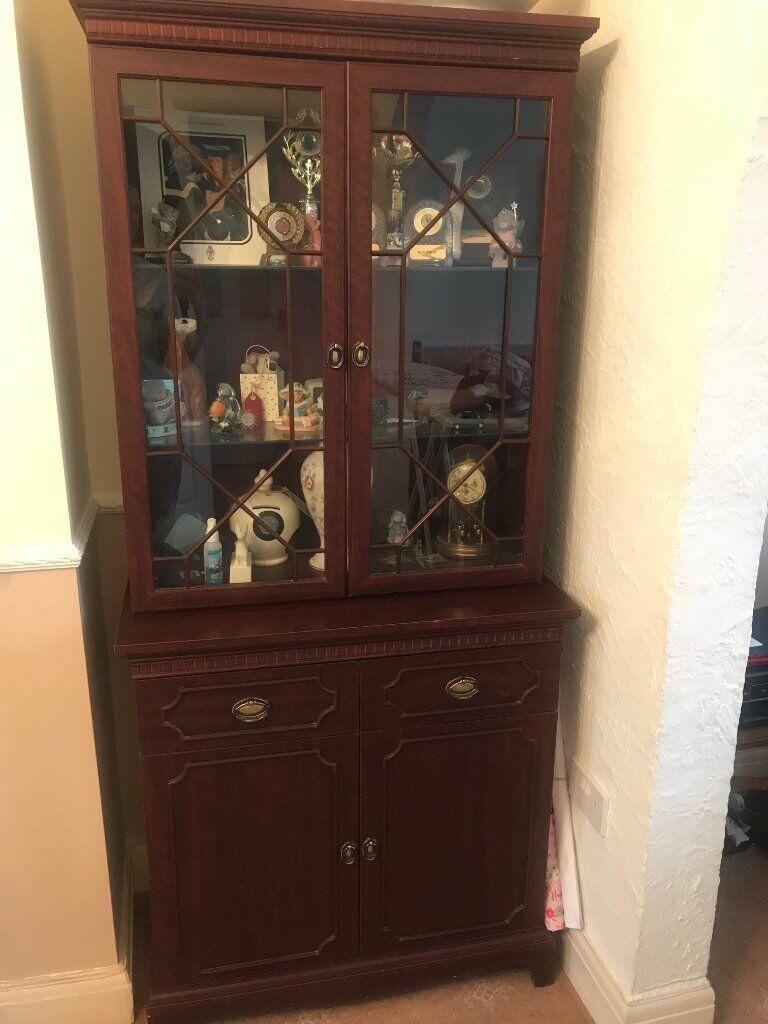 Dark Wood Display Cabinet