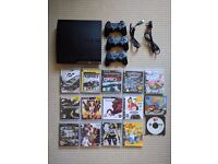 PS3 Slim, 250GB, 3 Controllers, 15 games