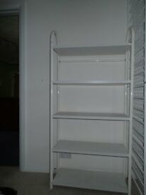 White shelf unit freestanding