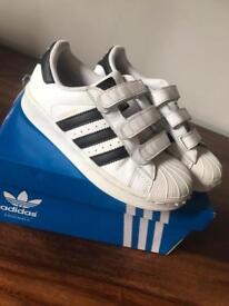 Adidas superstars kids size 12