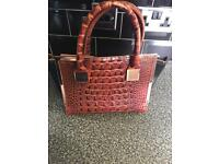 Ted baker brown leather croc tote bag