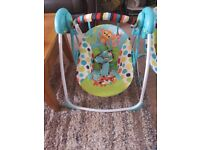 Jungle swinging chair with different swing speeds hardly used so its basically new
