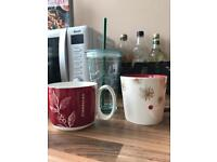 3 x Starbucks Mugs