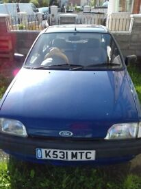ford fiesta mrk 4 , 5 door hatchback , engine in very good condition and low mileage .