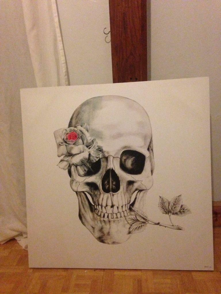 Canvas art skull picture