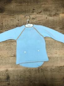 Spanish babywear two piece knitted set 18mths BN