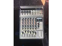 Powered mixing desk