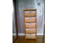 5 basket drawer unit