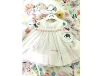 Sarah Louise baby dress with pants