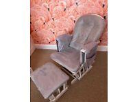 Kub Haywood grey gliding/nursing chair & footrest