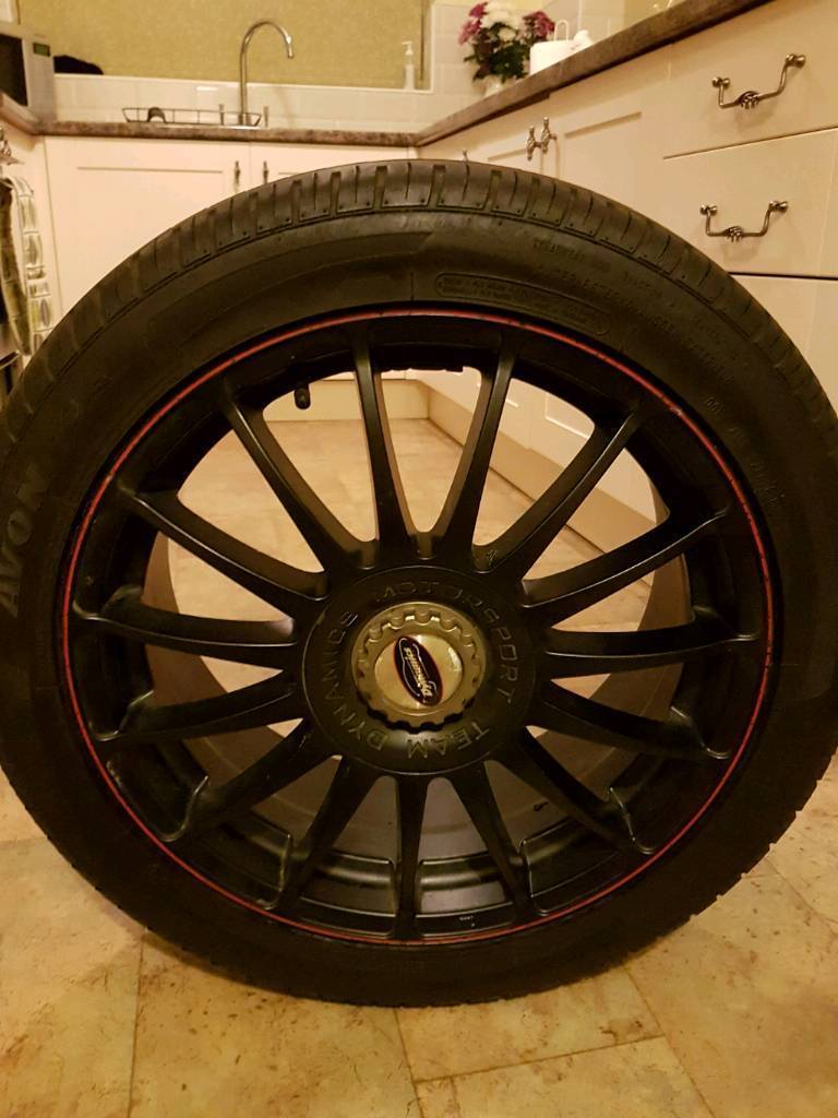 """17"""" alloys and tyres"""