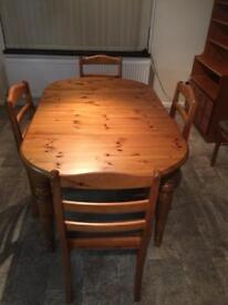 Dining Table and Side Unit