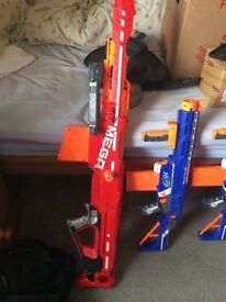 Assorted Nerf Guns, Centurion(1), Magnus(1), Retaliator(2), assorted ammunition for all 4