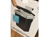 New - Simple Human 10Lt black door Bin