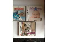 DS games - Nintendogs, Baby pals, Lifesigns (can be bought separate)