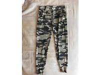 Misguided camo tracksuit bottoms- size 10