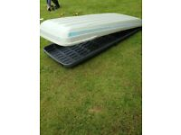 Sport Time 440 genuine Volvo car roof box and all fixing accessories