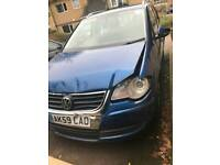 2009 Volkswagen Touran 1.9 tdi bkc bxw engine Spares or repairs damaged salvage