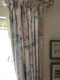 Laura Ashley Pencil Pleat Curtains Pair