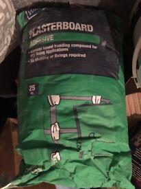 Brand New Unopened 25kg bag of Wickes Plasterboard Adhesive