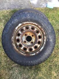 Escort van wheels with snow tyres 175/70/13