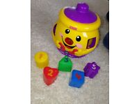 Fisher Price shapes jar