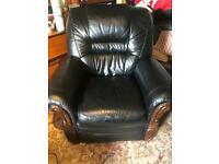 black electric reclining chair