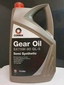 COMMA 5L SX75W-90 GL-5 SEMI-SYNTHETIC GEAR OIL 5 LITRE