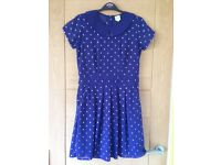 Girl's dress - age 13-14 - blue star print