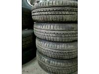 FREE FITTING 4 X MATCHING 155 70 13 TYRES 7MM TREAD NEARLY NEW