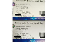 2 x Ronan Keating tickets at the BIC on Sat 1 Oct 2016 - Great seats in the sold out Terrace section