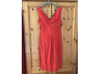 Ladies smart red dress, size 10