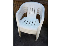 6 plastic garden chairs for sale