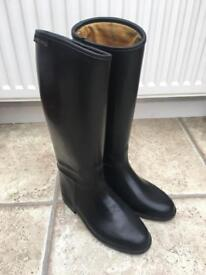 Girls Harry Hall Horse Riding Boots Size 1.5-2