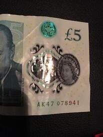 £5 Note - AK47
