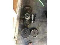 Weight plates - Over 110kg in weight plates less than £1 per kg!!