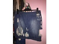 Woman's denim skirt