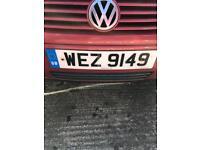 WEZ 9149 Private plate