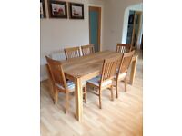 Solid oak dining/kitchen table