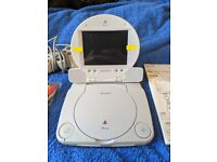 Boxed PS1, Psone with Official Portable Screen Combo (JPN)