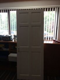 Solid wooden internal door needs painting