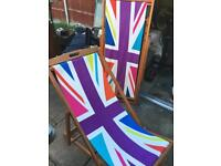 Union Jack deck chairs