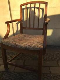 Antique chair needs renovation