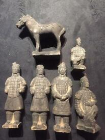 Chinese warrior Terracotta soldiers &horse