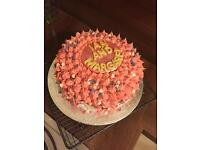'Baked with love' Homemade cakes available for order.