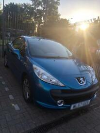 Peugeot 207cc for sale 1.6 litres. Petrol fuel and drives really good..